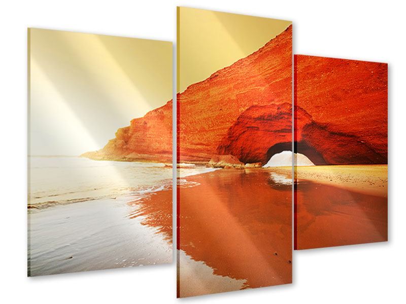 Modern 3 Piece Acrylic Print Mirroring In The Water