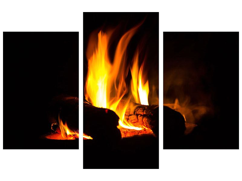 Modern 3 Piece Acrylic Print The Fireplace