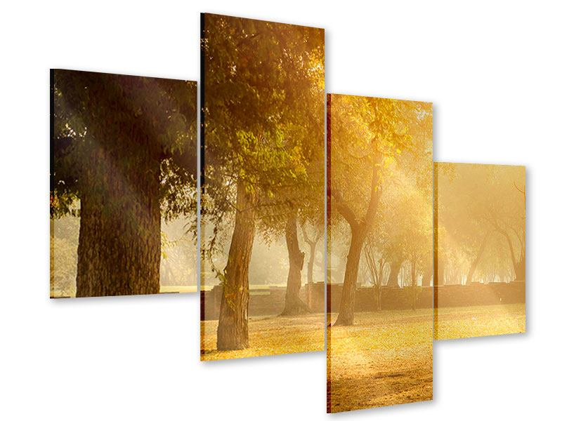 Modern 4 Piece Acrylic Print Romance Under Trees