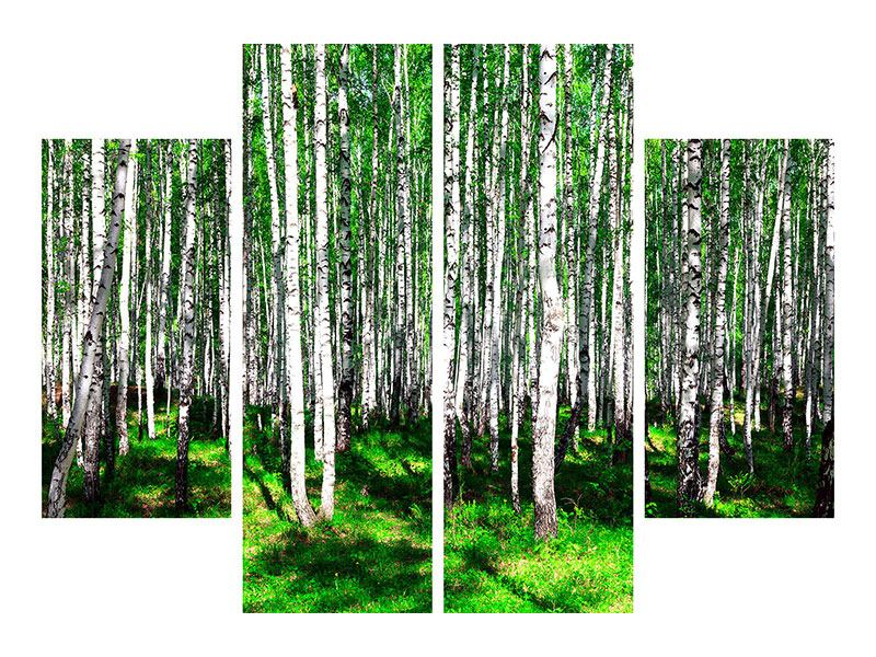 4 Piece Acrylic Print Summerly Birch Forest