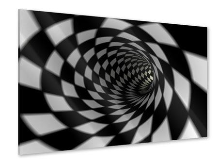 Acrylic Print Abstract Tunnel Black & White