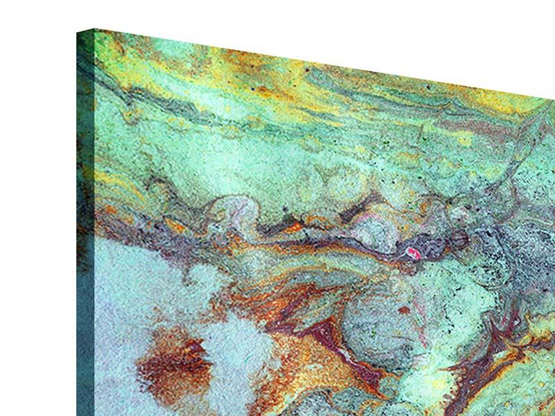 5 Piece Acrylic Print Marble In Green