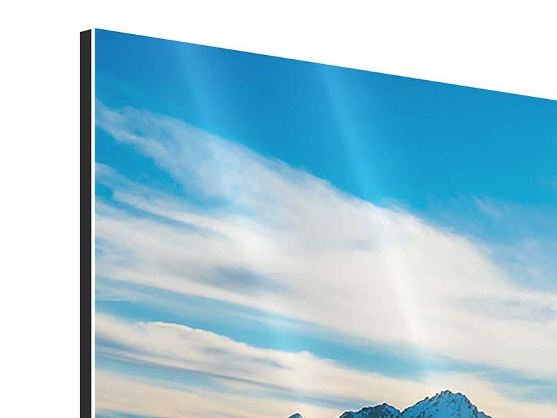 Modern 3 Piece Aluminium Print Winter's Tale In The Mountains