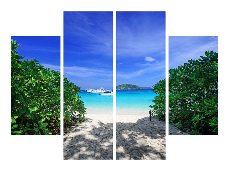 4 Piece Aluminium Print Similan Islands
