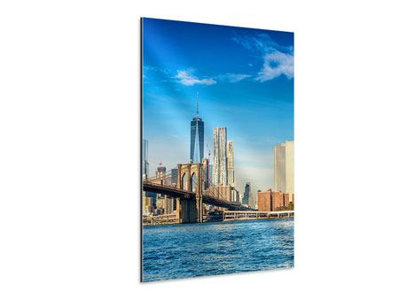 Tableau Aluminium Horizon de New York et pont de Brooklyn