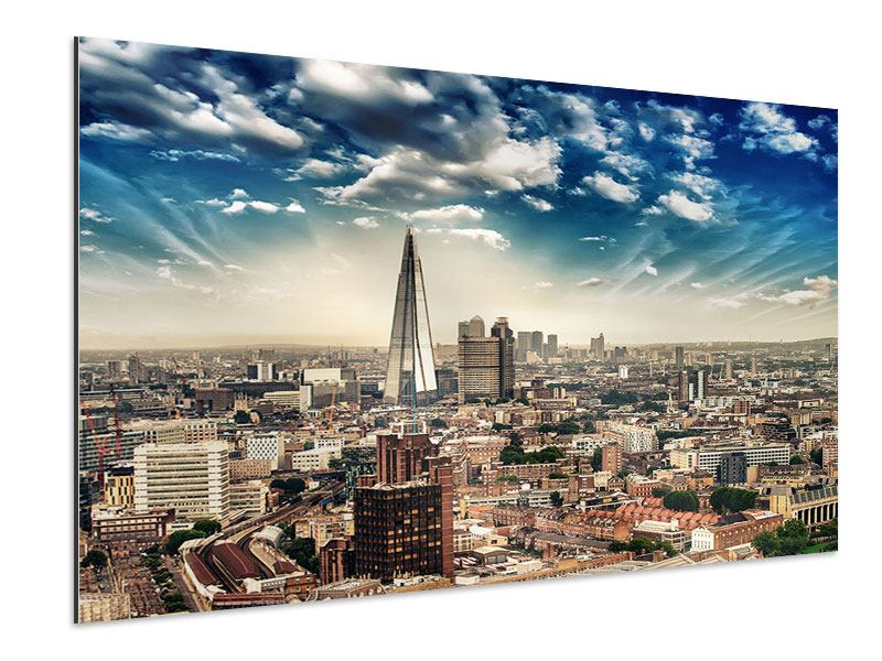 Aluminium Print Skyline Over The Rooftops Of London
