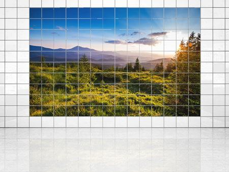 Tile Print Peaceful Landscape