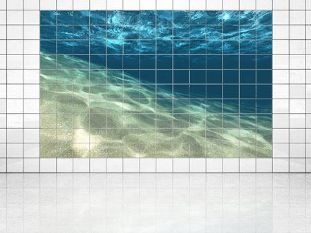 Tile Print Under The Water
