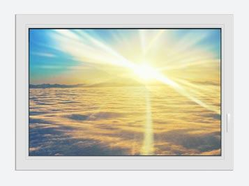 Window Print Sunset Above The Clouds