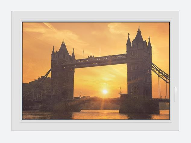 Window Print Sunset At Tower Bridge