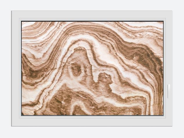 Window Print Marble In Sepia