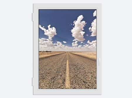 Window Print On The Road