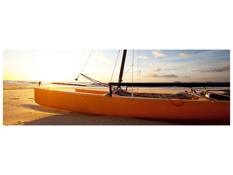 Panoramic Forex Print Catamaran