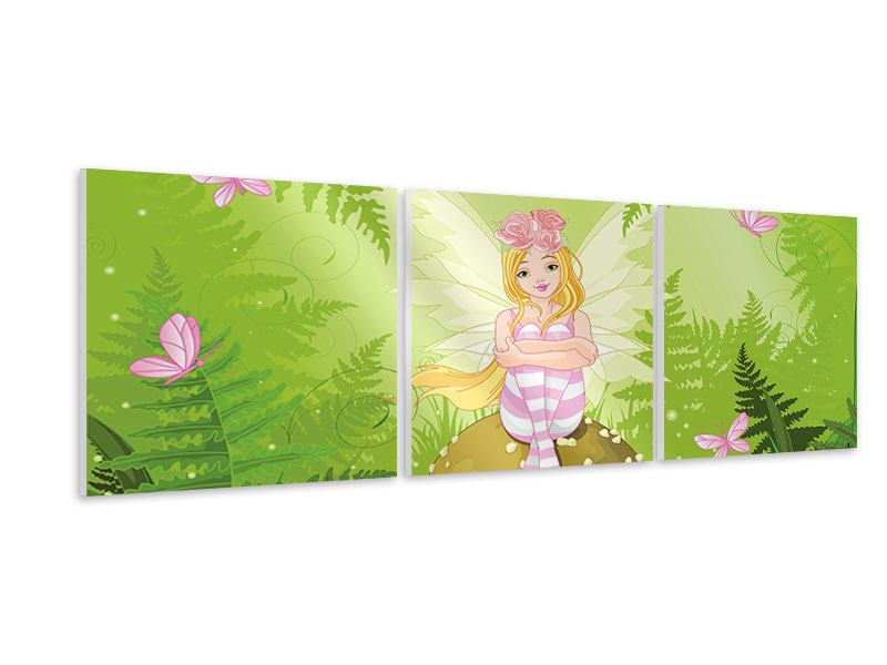 Panoramic 3 Piece Forex Print The Good Fairy
