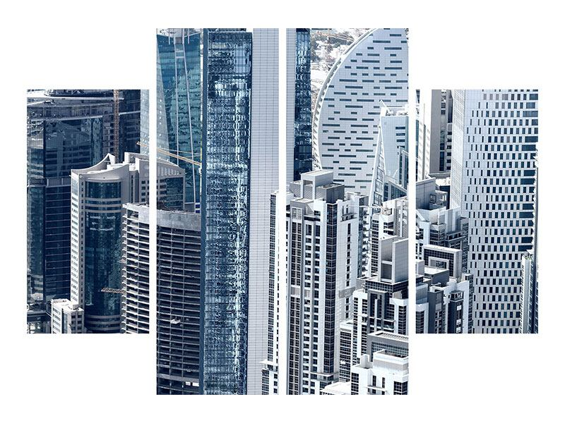 4 Piece Forex Print The Skyscrapers Of Dubai