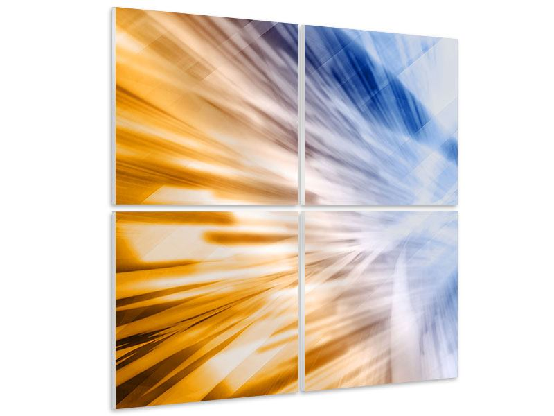 4 Piece Forex Print Abstract Galaxy