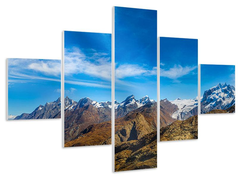 Tableau Forex en 5 parties Alpes suisses au printemps