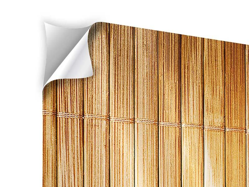 Modern 4 Piece Self-Adhesive Poster Bamboo Canes