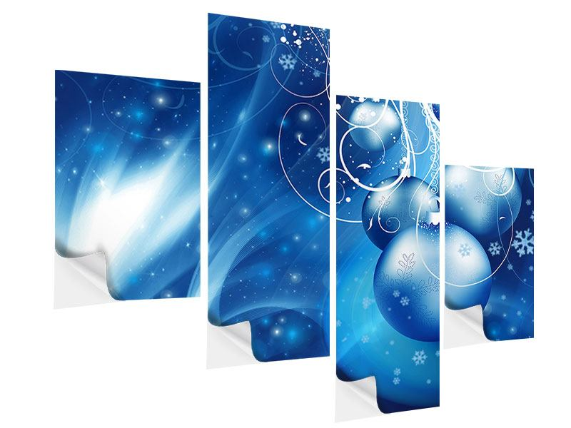 Modern 4 Piece Self-Adhesive Poster Shingle Bells
