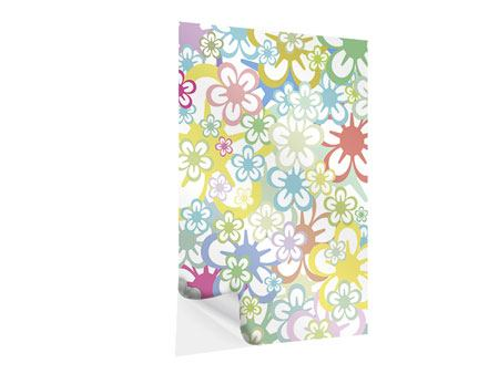 Self-Adhesive Poster Retro-Style Flower