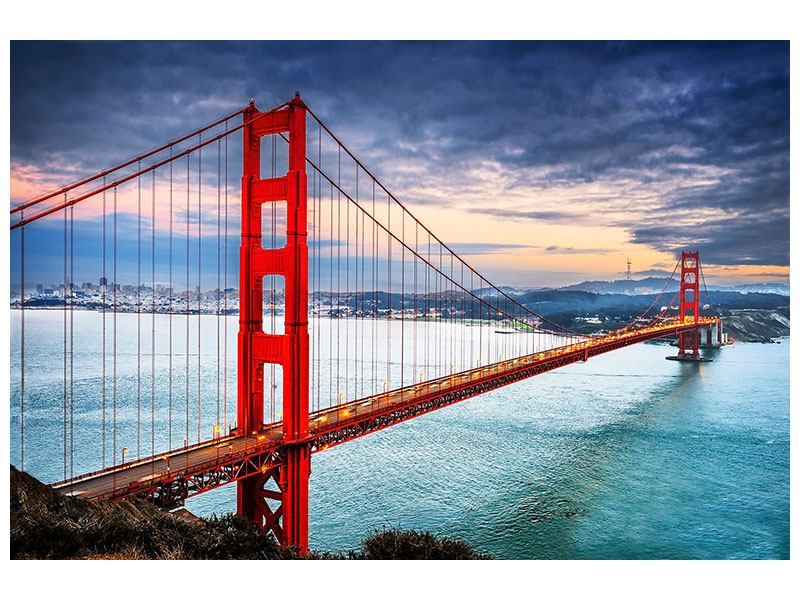 Self-Adhesive Poster The Golden Gate Bridge At Sunset