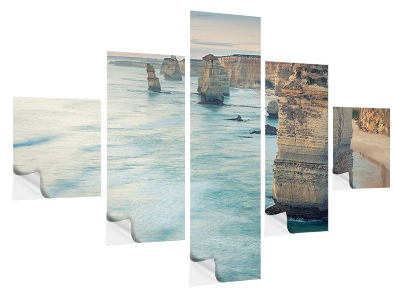 5 Piece Self-Adhesive Poster Cliffs