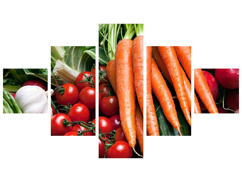 5 Piece Self-Adhesive Poster Vegetables