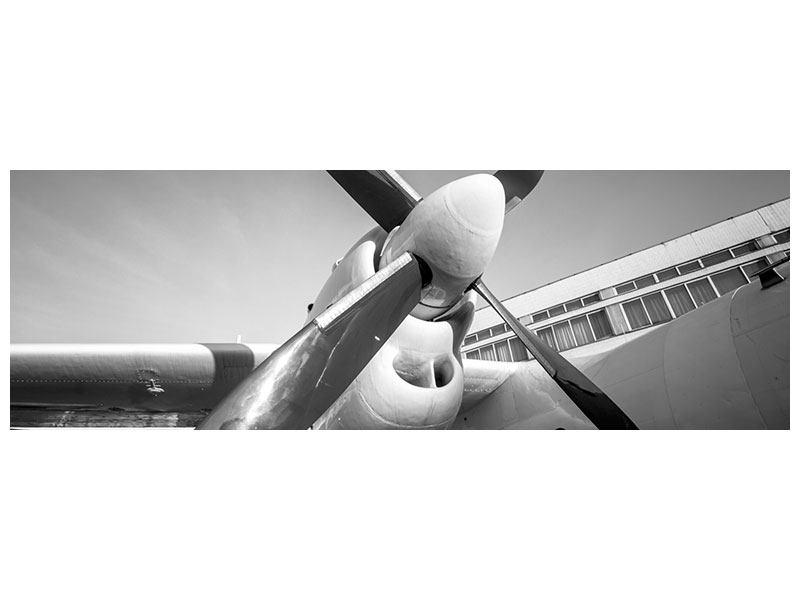 Panoramic Canvas Print Nostalgic Aircraft