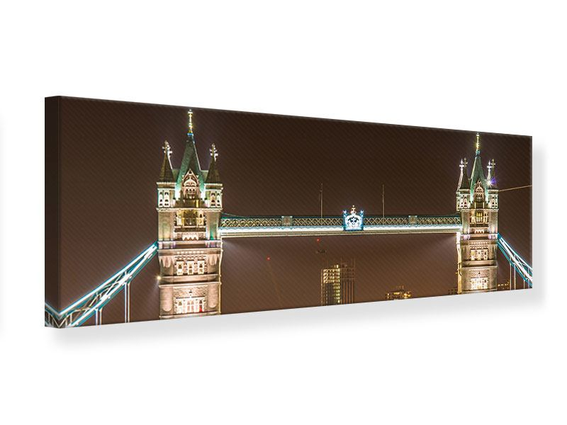 Panoramic Canvas Print Tower Bridge At Night