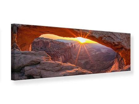 Panoramic Canvas Print Sunset At Mesa Arch