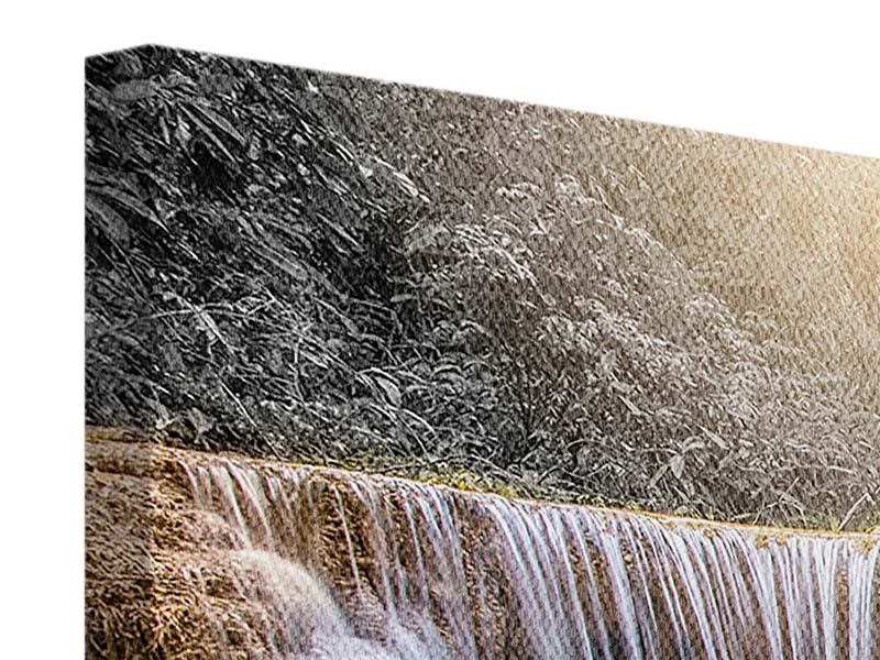 Panoramic 3 Piece Canvas Print Happy Waterfall