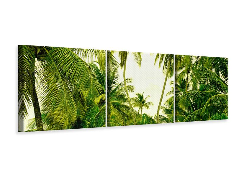 Panoramic 3 Piece Canvas Print Mural Ready for a vacation