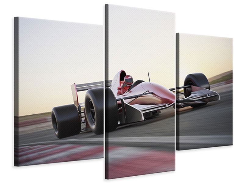 Modern 3 Piece Canvas Print Racetrack