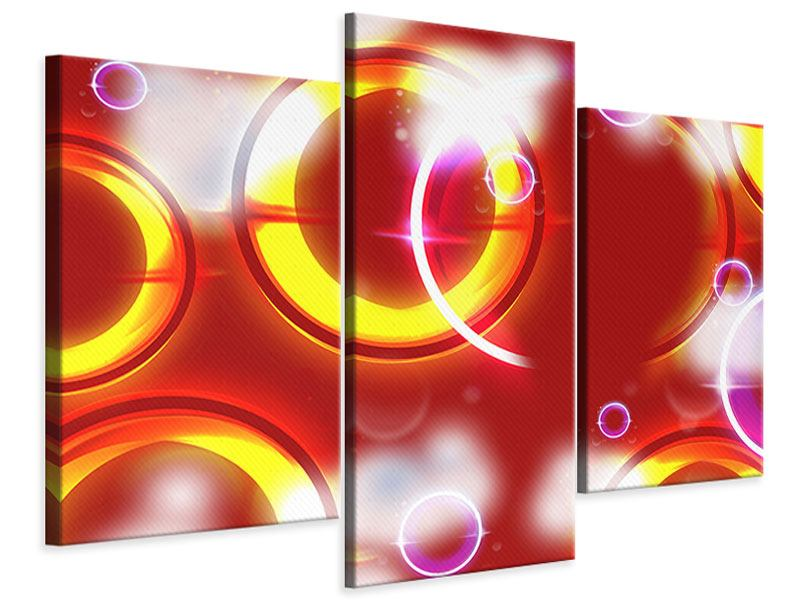 Modern 3 Piece Canvas Print Abstract Retro