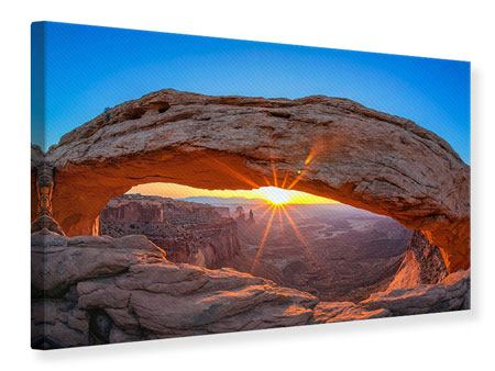 Canvas Print Sunset At Mesa Arch