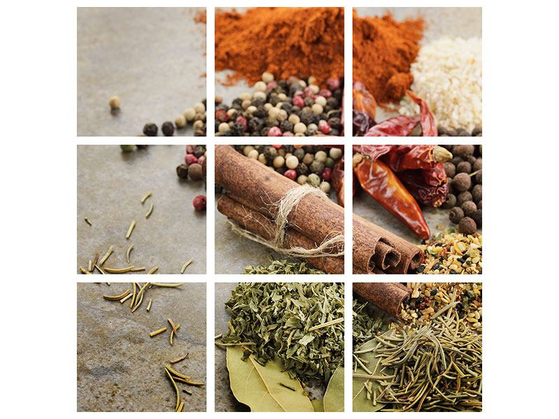 9 Piece Canvas Print Spices Of The South
