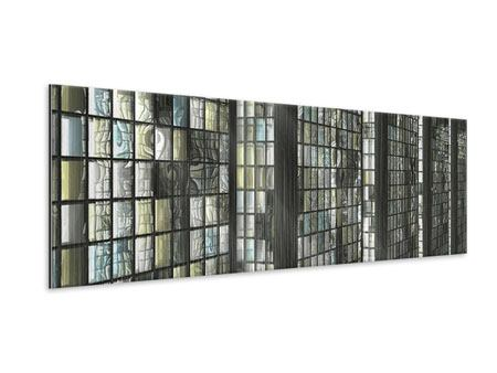Panoramic Metallic Print Windows