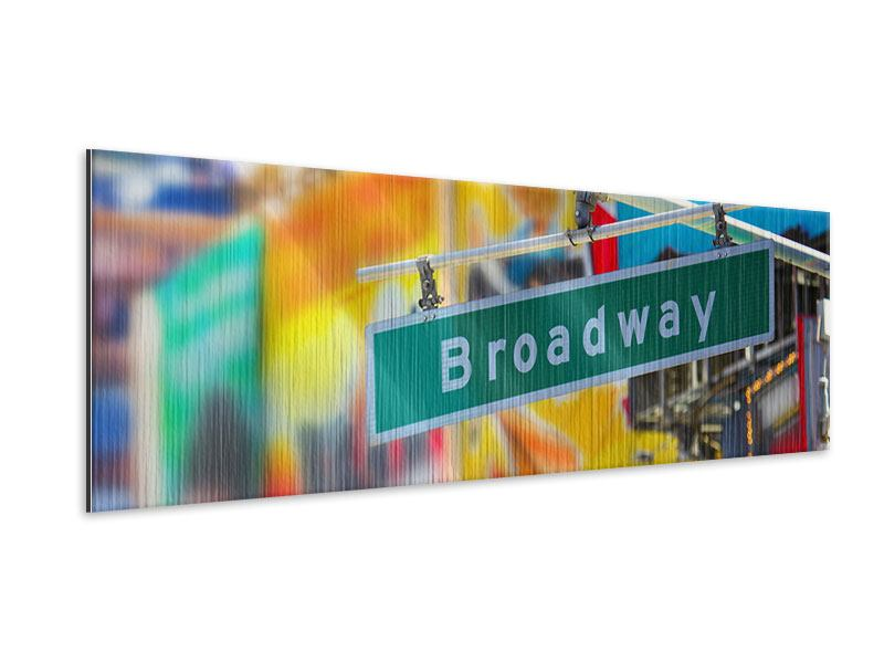 Panoramic Metallic Print Broadway