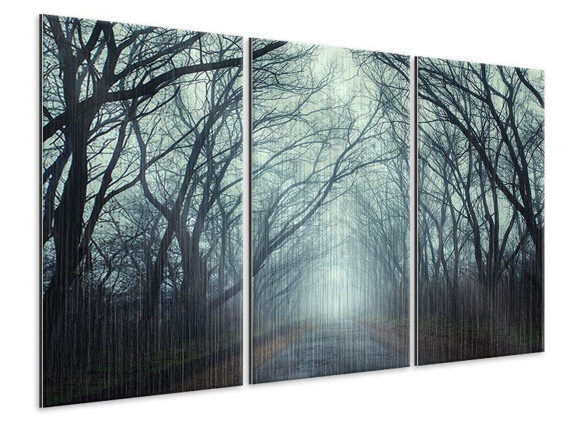 3 Piece Metallic Print Cloud Forest