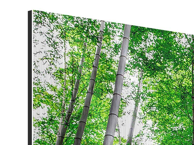 3 Piece Metallic Print Bamboo Forest
