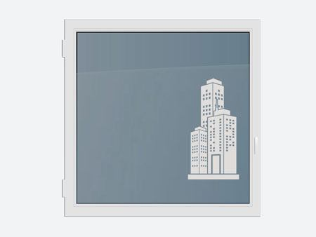 Decorative Window Film skyscraper