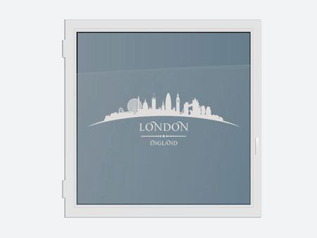 Decorazioni adesive finestre Skyline London