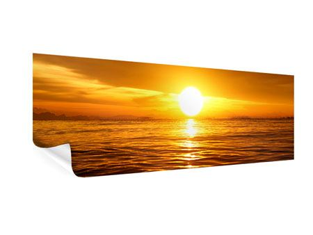 Panoramic Poster Glowing Sunset On The Water