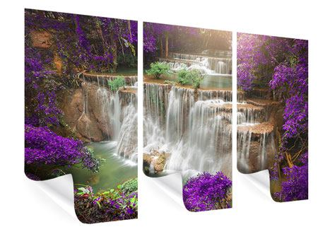3 Piece Poster Photowallpaper Garden Eden