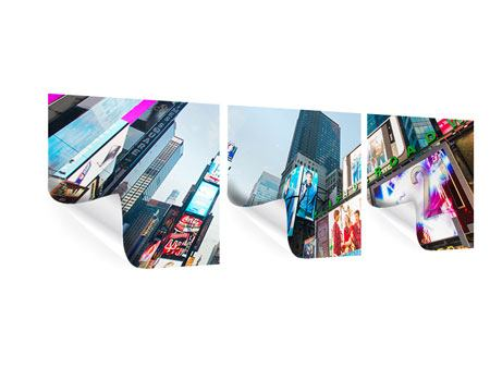 Panorama Poster 3-teilig Shopping in NYC