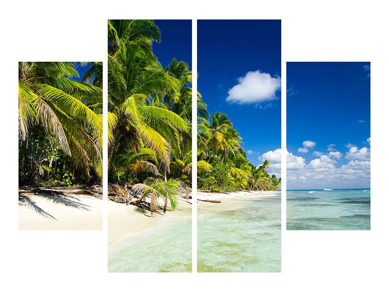 4 Piece Poster The Deserted Island