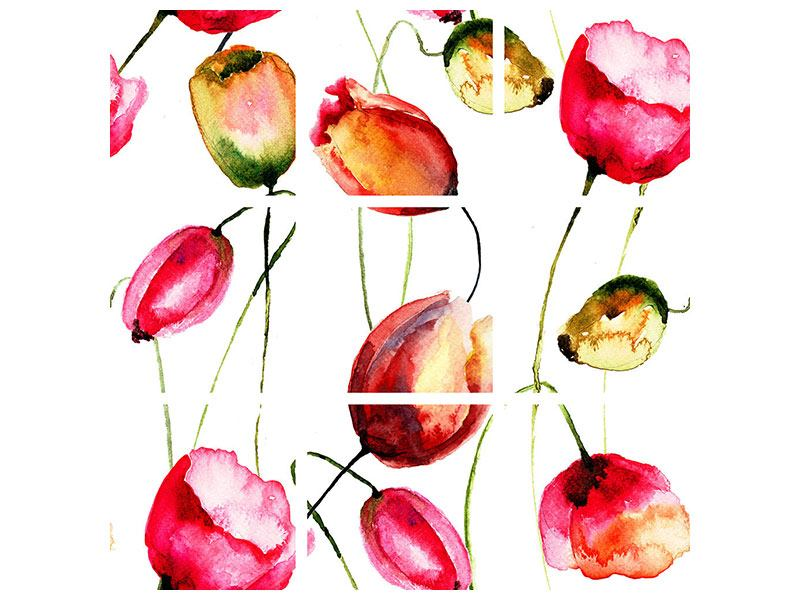 9 Piece Poster Painting The Tulips