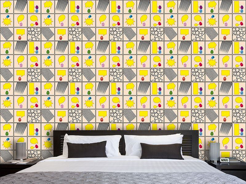 Design Wallpaper Talking Eggs