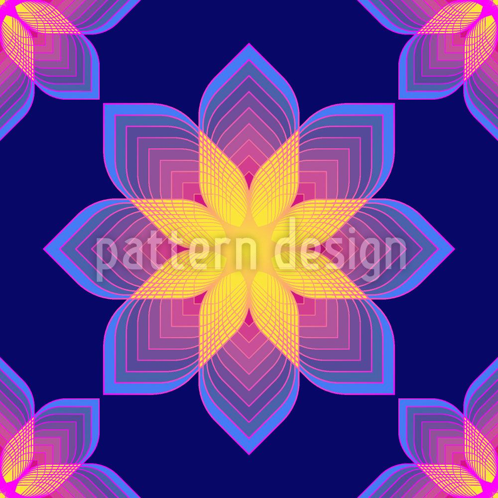 Papier peint design Digital Flowers