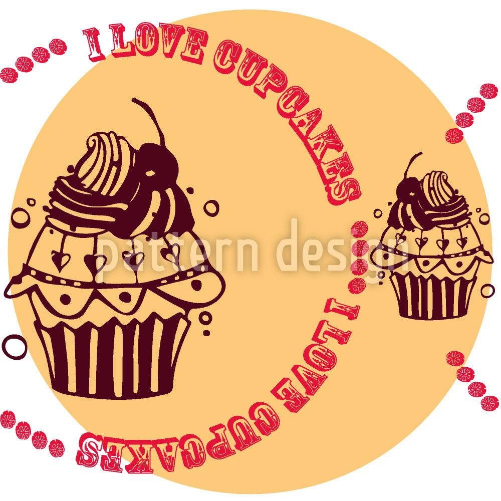 Design Wallpaper Cupcake Love Cream